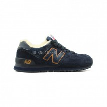 New Balance 574 Navy-Gold