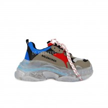 Balensiaga Triple S Brown Red Blue