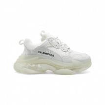 Balensiaga Triple S Transparent White