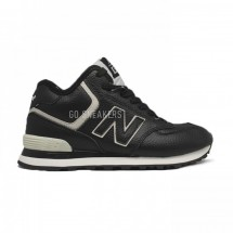 New Balance 574 High-top Black Leather