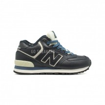 New Balance 574 High-top Navy Leather