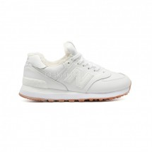 New Balance 574 White Leather