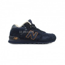 New Balance Мужские 574 High-top Navy-Gold